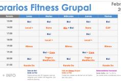 Horarios Fitness Grupal – Feb. 2019
